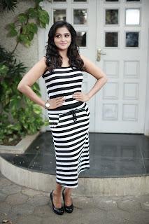 Ramya Nambeesan in Stunning Zebra Print long skirt and sleeveless top