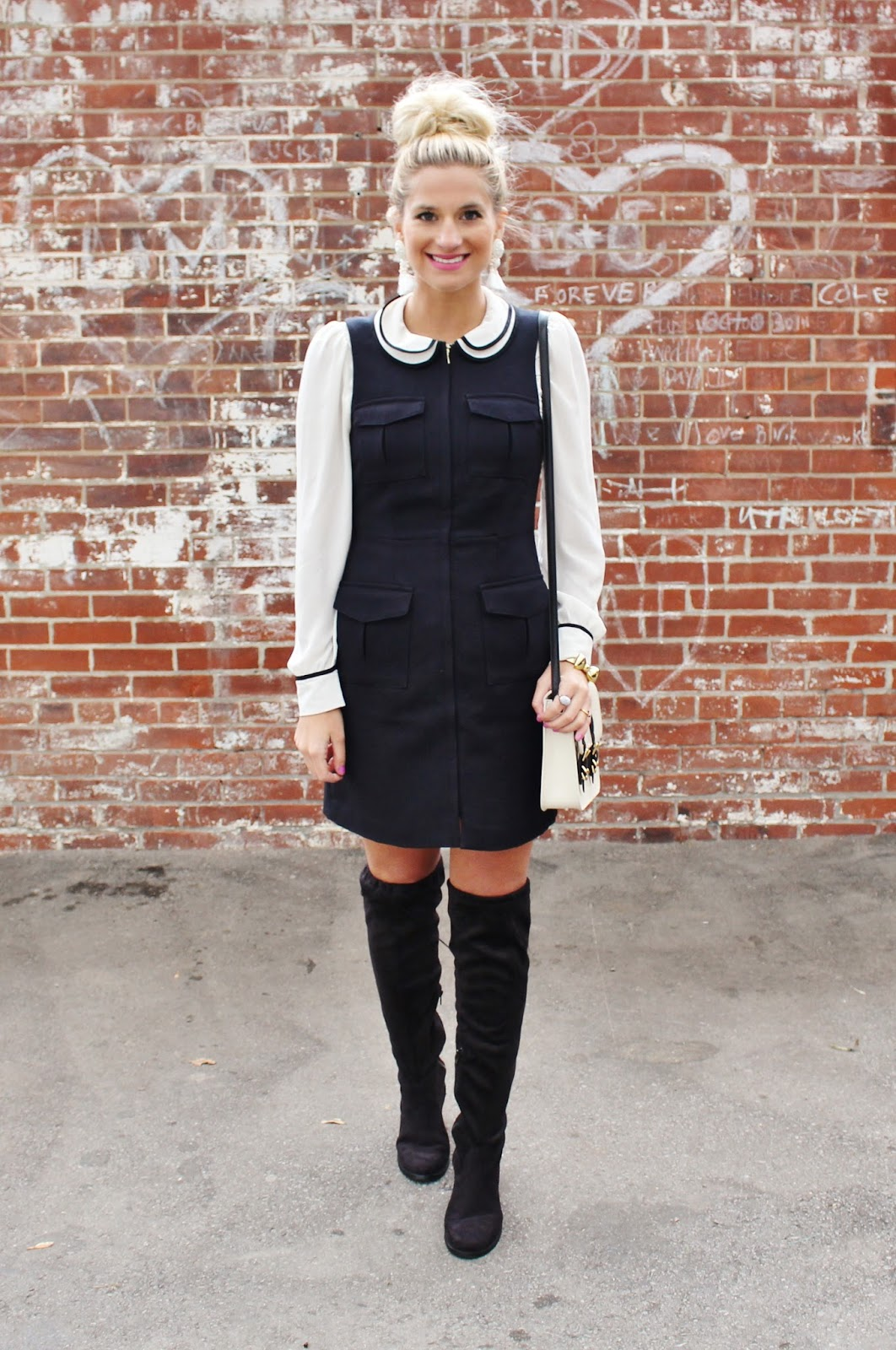 bijuleni- Peter Pan Collar Dress