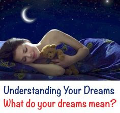 There are explanations in every dreams you have every night
