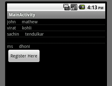 Android Sqlite and ListView Example
