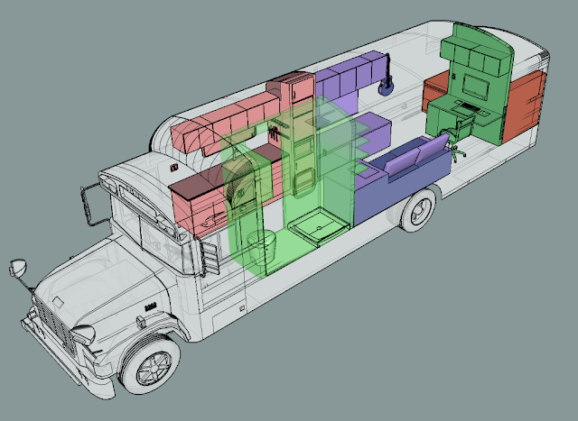 plan maison autobus
