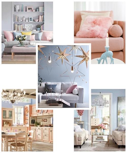 decoração com rosa e azul