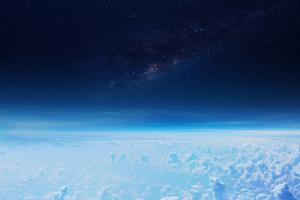 Vista de la estratosfera, una de las capas de la atmósfera