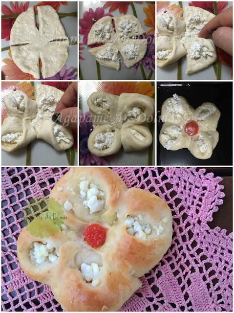 τυροπιτακια λουλουδια