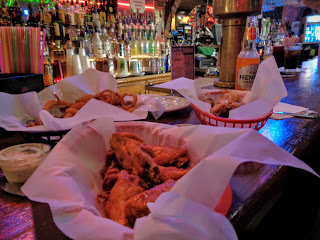 wing night at Cherry Street Restaurant and Bar, Galesburg, Illinois
