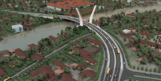 gambar jembatan sungai alalak yang baru