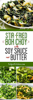 Stir-Fried Bok Choy with Soy Sauce and Butter found on KalynsKitchen.com