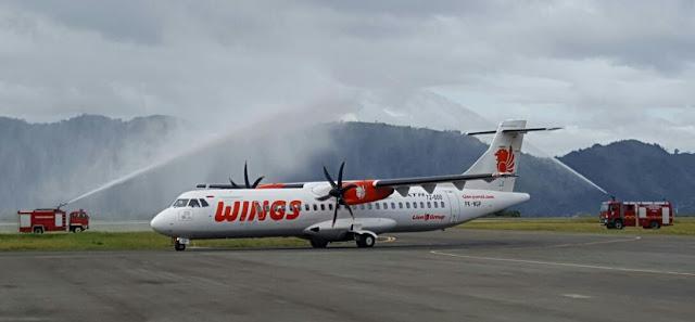 Wings Air Terbang Perdana dari Rembele Bener Meriah