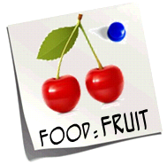 http://quizlet.com/11034619/food-fruit-flash-cards/