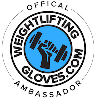 weight lifting gloves ambassador logo gear equipment gym accessories
