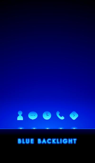 Blue backlight.