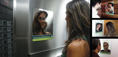 Atelier do Corpo Facial Gymnastics Classes Mirror Advertisement