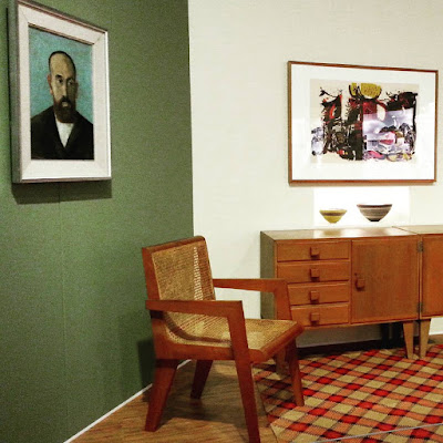 Modernist lounge on display at The Moderns exhibition.