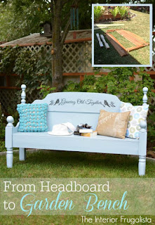 From headboard to outdoor garden bench for two