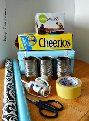 Vintage, Paint and more... supplies to make a dish organizer
