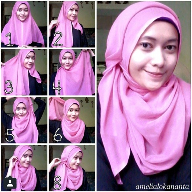 10 Tutorial Hijab Modern Tanpa Ninja Terbaru 2021 1001 Cara Memakai Jilbab Segi Empat 2021 Kreasi Terbaru