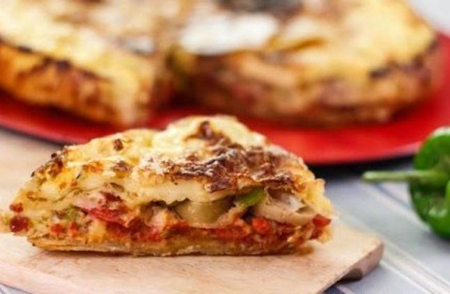 طريقة عمل  بيتزا الجلاش  أو جلاش البيتزا