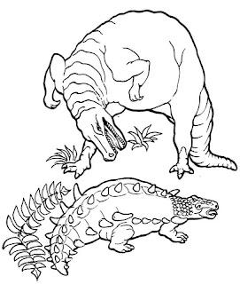 Printable Ankylosaurus VS Tyrex Coloring Sheet