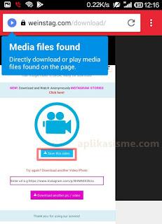 Cara download video atau foto dari instagram tanpa aplikasi