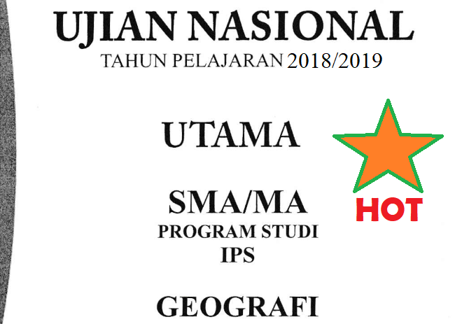 Soal Dan Kunci Jawaban Unbk Geografi 2019 No 26 30 Guru Geografi