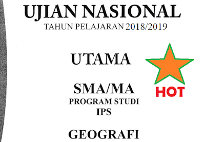 Soal dan Kunci Jawaban UNBK Geografi 2019 No 16-20