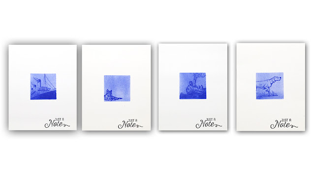 Faux Cyanotype Card Set by Understandblue