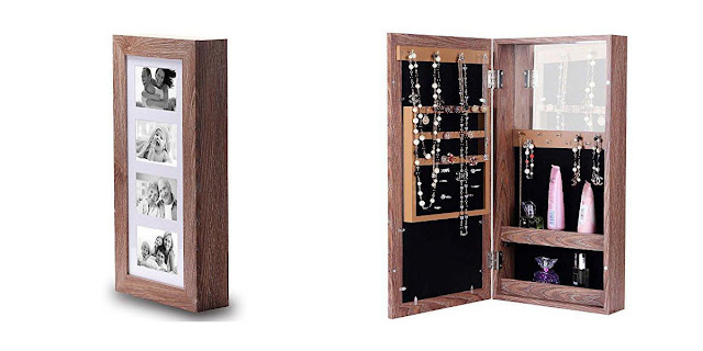 Shop Nile Corp Wholesale Wooden Jewelry Armoire Storage Cabinet with Photo Frame