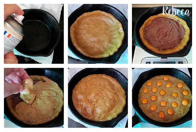 Receta de galleta rellena en sartén: montaje