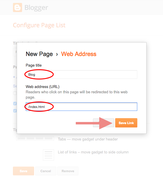 Add pages to your blog