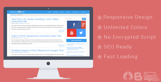 AWESOME v3 Responsive Blogger Template