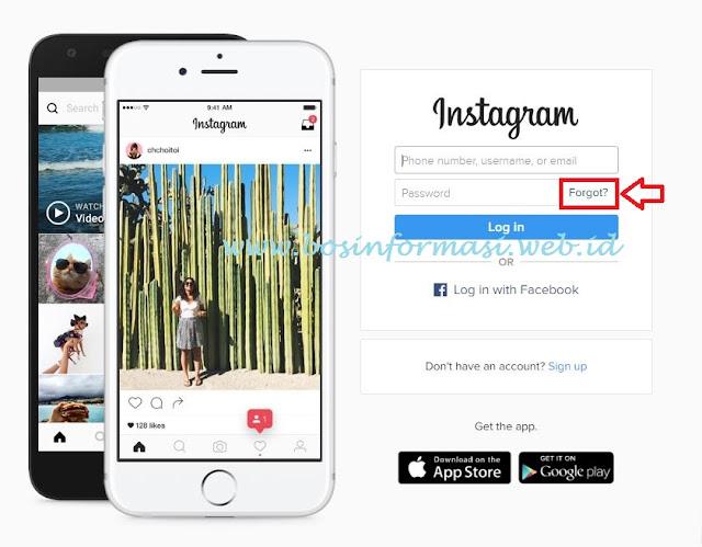 cara membuka instagram yang lupa kata sandi