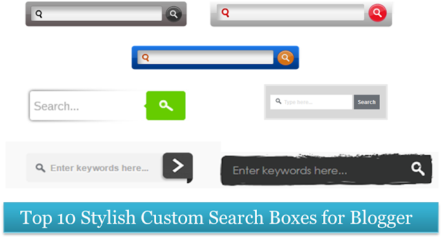 Custom search boxes for blogger