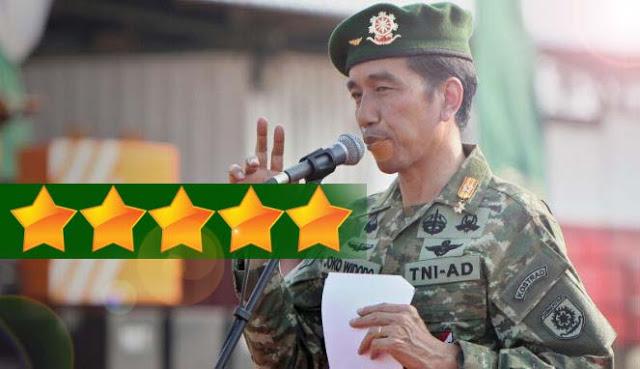 Jokowi Diusulkan Berpangkat Bintang Lima