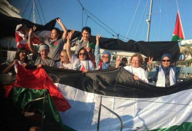 flotilla mujeres rumbo a gaza