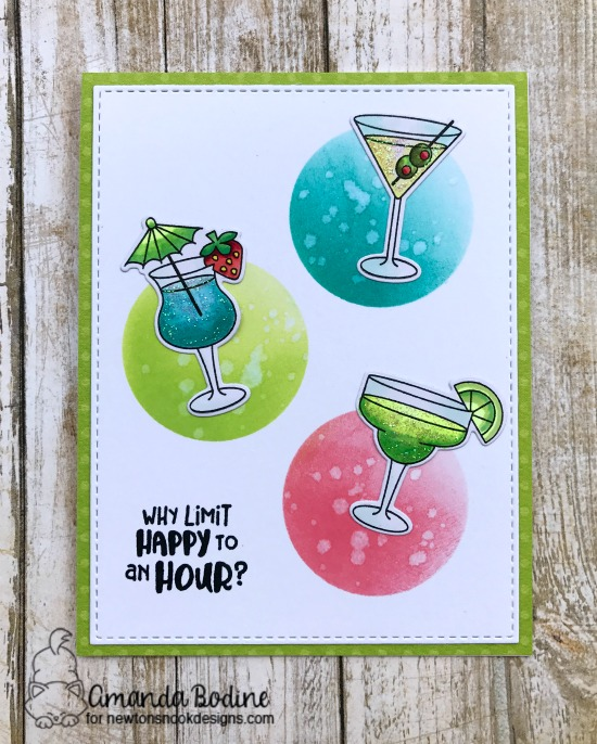 Cheers! Cocktail Card by Amanda Bodine | Cocktail Mixer Stamp Set by Newton's Nook Designs #newtonsnook