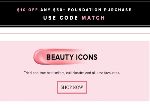 Hudson's Bay $10 Off Foundation Purchase + 2000 HBC Rewards Points