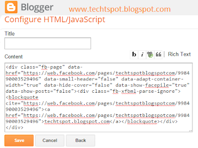 Add Facebook Fan Page To Blogger Blog 7