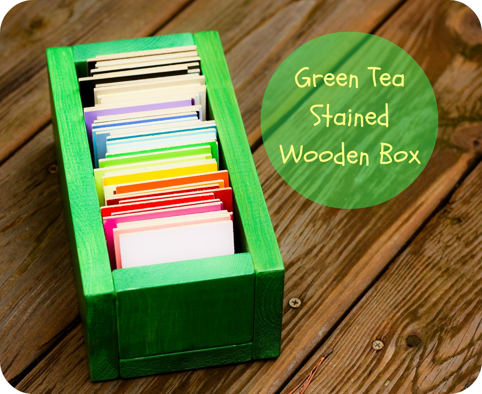 Tea Stained Wooden Sample Box Organic Bloom