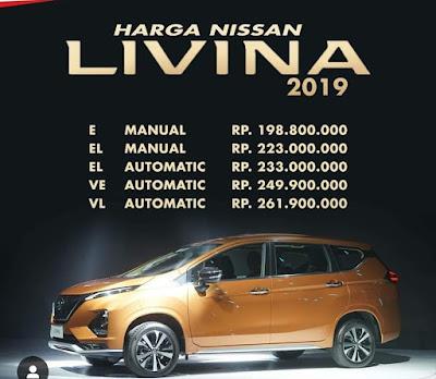 Harga nissan new livina 2019 yang mirip dengan mitsubishi Expander.