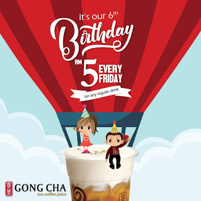 Gong Cha Malaysia Anniversary Discount Promo Friday