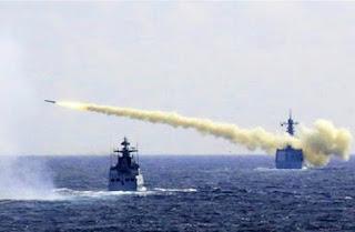 Trung quốc bắn đạn thật trên biển hoa đông