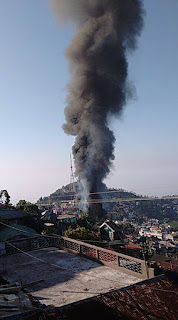 massive fire in kurseong