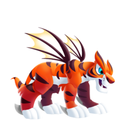 Aparência de adolescente Dragão Tigre