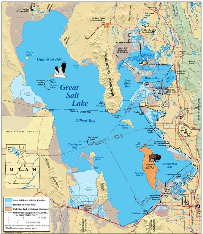 map of great salt lake Online Maps Great Salt Lake Map map of great salt lake