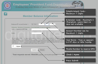 How to Type PF Number to know EPF Account Balance