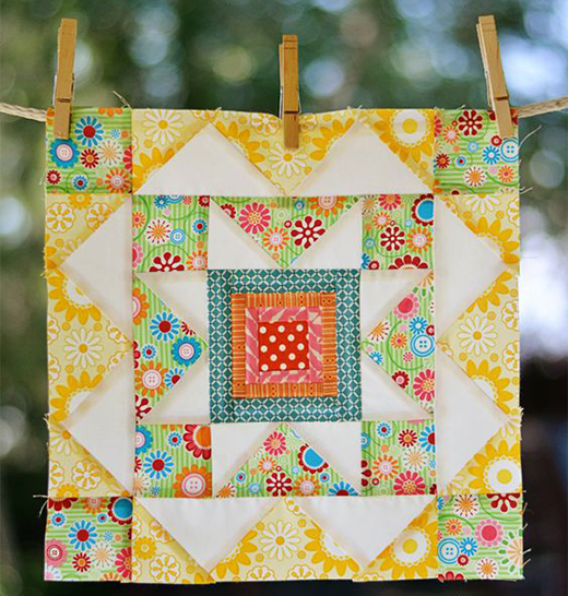 Summer Star Quilt Block Free Pattern