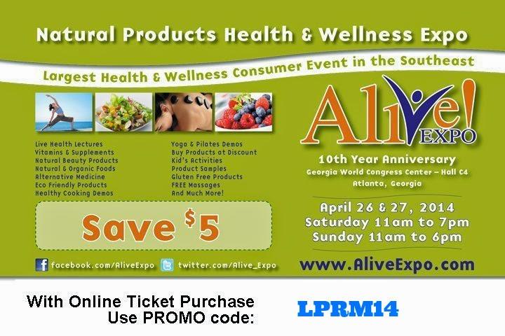 Alive Expo in Atlanta April 26th & 27th via ProductReviewMom.com