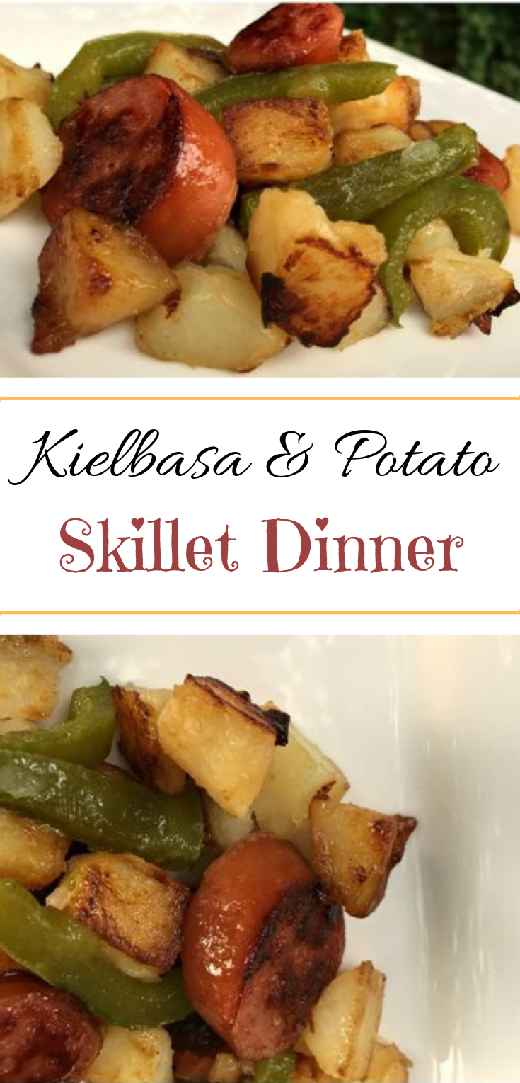 Kielbasa and Potato Skillet #cheap #dinner
