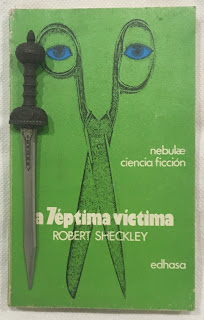 Portada del libro La séptima víctima, de Robert Sheckley