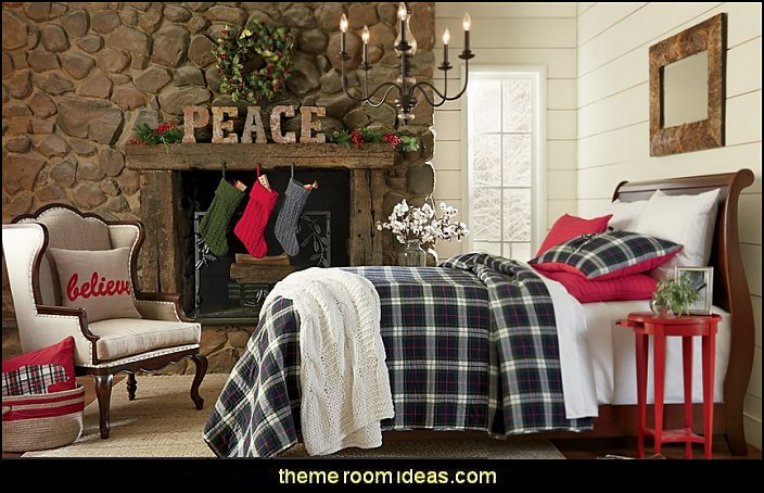 rustic decorating christmas theme bedrooms Rustic Christmas decorating ideas    rustic Christmas decorations   Vintage. Decorating theme bedrooms   Maries Manor  Rustic Christmas